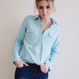 J. Crew | Blue Oxford Cotton Button-Up